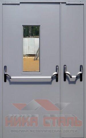 Двери противопожарные двупольные остекленные