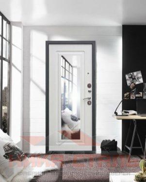 Металлические входные двери с зеркалом