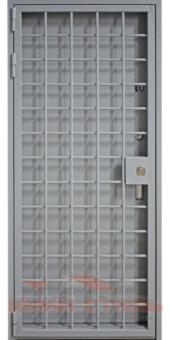 Дверь КХНС с решеткой