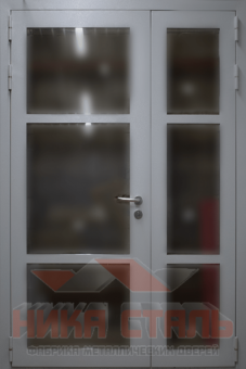 Двери металлические остекленные
