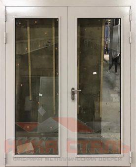 Дверь остекленная двухстворчатая