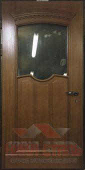 Теплая дверь со стеклом