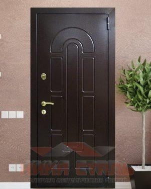 Двери с рисунком на металле