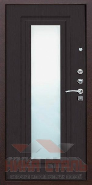 металлические двери в квартиру с зеркалом