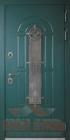 Дверь с терморазрывом с ковкой и стеклом