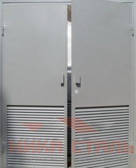 Ворота с жалюзийными решетками