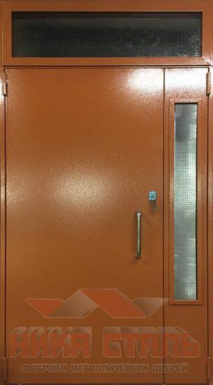 Дверь тамбурная двухстворчатая со стеклом