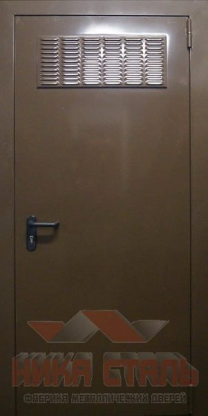 Дверь в трансформаторную с жалюзийной решеткой
