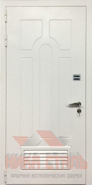 Дверь для котельной с решеткой