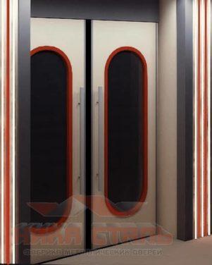 Металлические входные двери с остеклением