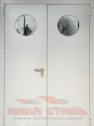 Противопожарная дверь с иллюминатором