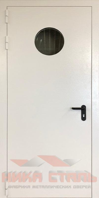 Противопожарная дверь сталь с остеклением