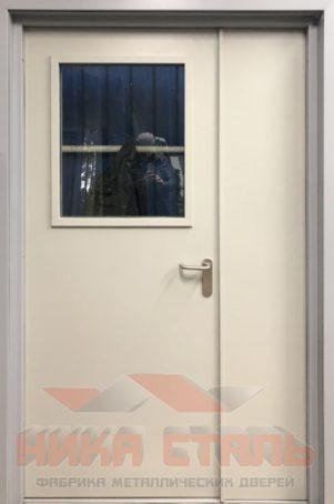 Дверь с остеклением из оцинковки