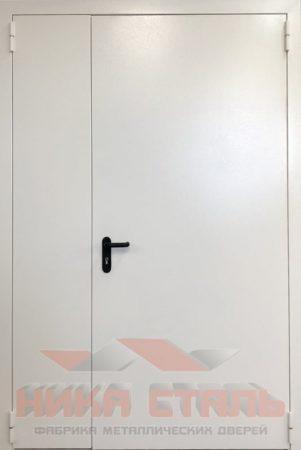 Дверь серая оцинкованная